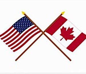 USA & Canada Flags