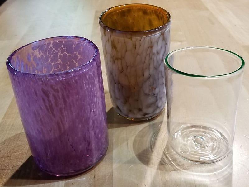 Hand-blown drinking cups