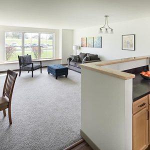 14 1-Bedroom Unit Kitchen-Living