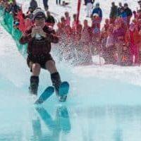 Win Smith pond skimming at Sugarbush